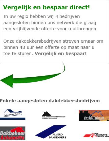 Contact opnemen met aangesloten dakdekkers